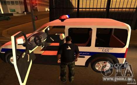 Ford Transit Connect Turkish Police pour GTA San Andreas vue de droite