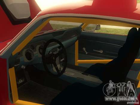 Ford Mustang 1967 GT Tuned pour GTA San Andreas vue intérieure