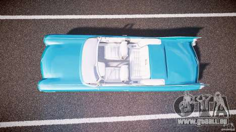 Cadillac Eldorado 1959 interior white pour GTA 4 Vue arrière