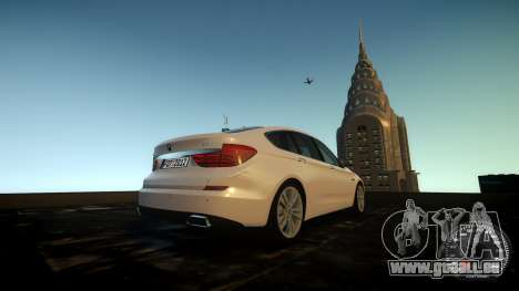 BMW GT F07 2012 GranTurismo pour GTA 4 est une vue de l'intérieur