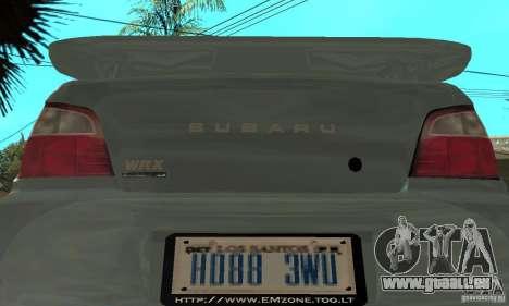 Subaru Impreza 2002 Tunable - Stock pour GTA San Andreas vue de côté