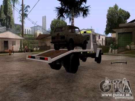 GAZ 3309 Abschleppwagen für GTA San Andreas zurück linke Ansicht