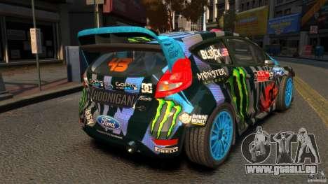 Ford Fiesta Rallycross Ken Block (Hoonigan) 2013 für GTA 4 hinten links Ansicht