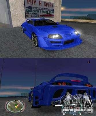 Toyota Supra 2006 Most Wanted pour GTA San Andreas laissé vue