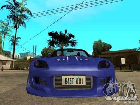 Honda S 2000 pour GTA San Andreas vue de droite