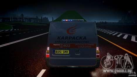 Ford Transit Usluga polski gazu [ELS] pour GTA 4 est une vue de dessous