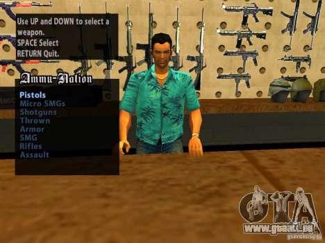 Tommy Vercetti dans AMMU-NATION pour GTA San Andreas quatrième écran