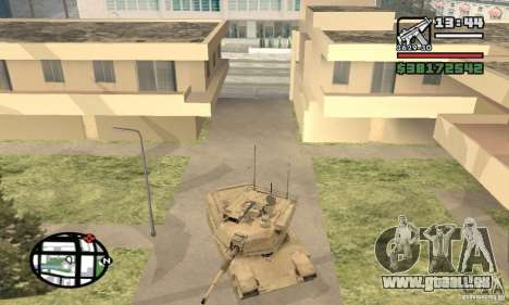M1A2 Abrams TUSK für GTA San Andreas Rückansicht
