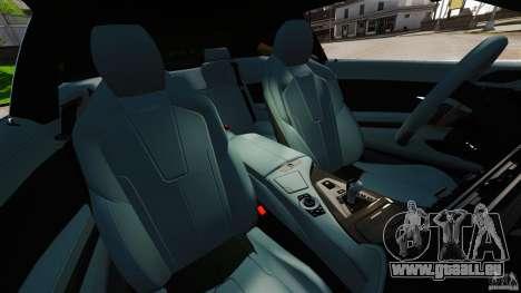 BMW M6 pour GTA 4 est une vue de l'intérieur
