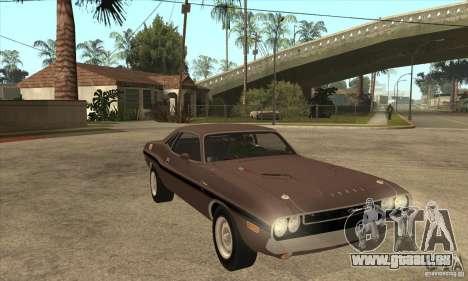 Dodge Challenger R/T Hemi 426 pour GTA San Andreas vue arrière