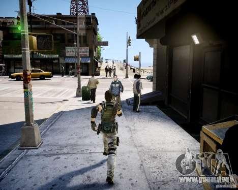 Chris from Resident Evil 5 für GTA 4 Sekunden Bildschirm