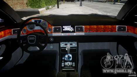 Audi S8 D3 2009 für GTA 4 Unteransicht