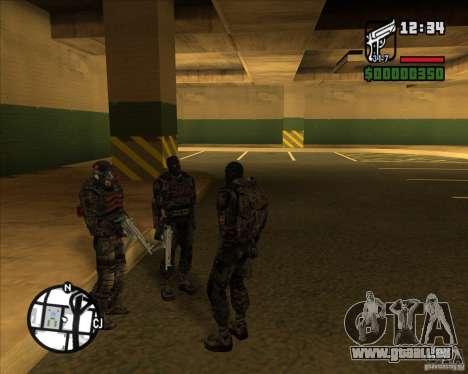 Groupe de stalkers dette pour GTA San Andreas deuxième écran