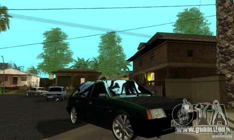 VAZ 2109 leichte Tuning für GTA San Andreas obere Ansicht