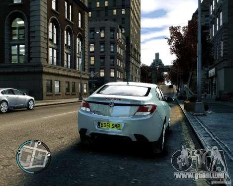 Vauxhall Insignia v1.0 pour GTA 4 est une vue de l'intérieur