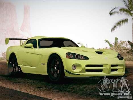 Dodge Viper SRT-10 ACR pour GTA San Andreas vue de dessus