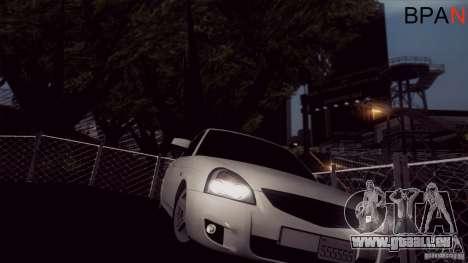 LADA 2170 Californie pour GTA San Andreas sur la vue arrière gauche