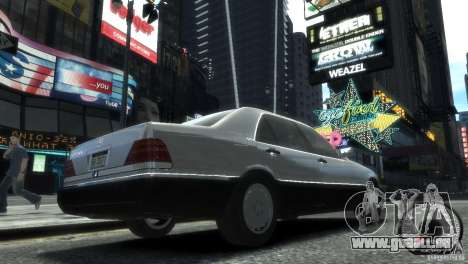 Mercedes-Benz 600SEL wheel2 tinted für GTA 4 linke Ansicht