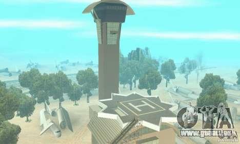 Einem verlassenen Flughafen in der Wüste für GTA San Andreas zweiten Screenshot