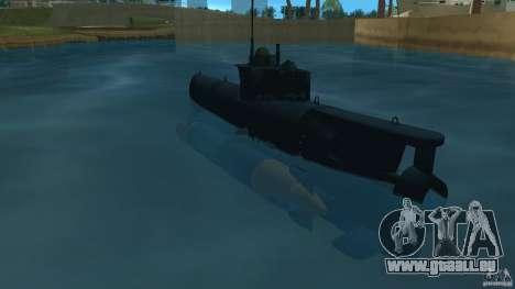 Seehund Midget Submarine skin 2 pour GTA Vice City sur la vue arrière gauche