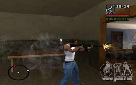 L'AK-74 m pour GTA San Andreas troisième écran
