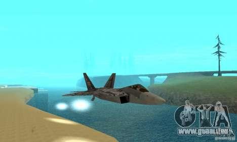 F-22 Starscream für GTA San Andreas Unteransicht