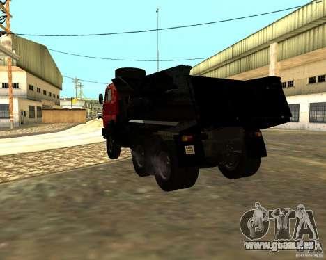 KAMAZ 55111 pour GTA San Andreas sur la vue arrière gauche