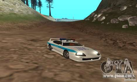 Jester Russian Police für GTA San Andreas obere Ansicht