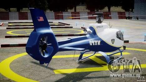 Eurocopter EC 130 NYPD pour GTA 4 est un côté