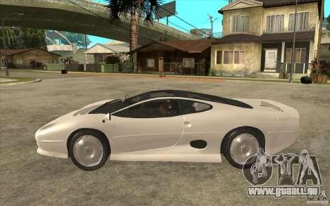 Jaguar XJ 220 pour GTA San Andreas laissé vue