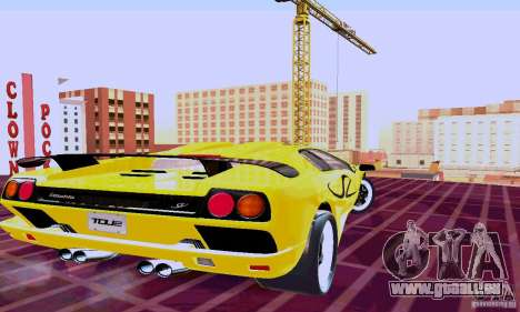 Lamborghini Diablo SV 1997 pour GTA San Andreas sur la vue arrière gauche