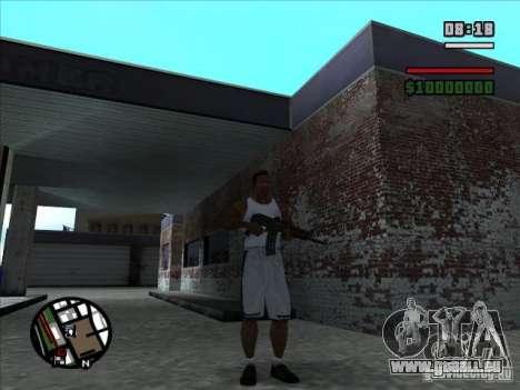 AK-74 (pas de stock) pour GTA San Andreas deuxième écran