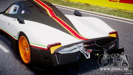 Pagani Zonda R 2009 Italian Stripes pour GTA 4 vue de dessus