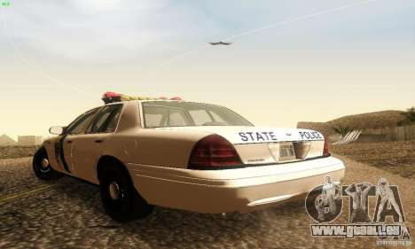 Ford Crown Victoria New Jersey Police für GTA San Andreas linke Ansicht