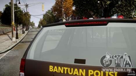 Chevrolet Tahoe Indonesia Police pour GTA 4 vue de dessus