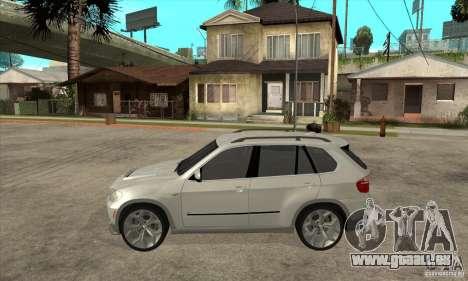BMW X5 E70 Tuned für GTA San Andreas linke Ansicht