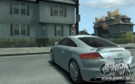 Audi TT-RS pour GTA 4 Vue arrière de la gauche