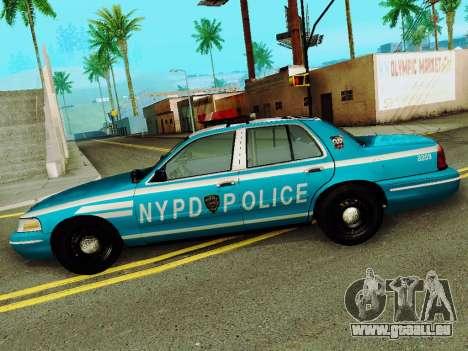 Ford Crown Victoria 2003 NYPD Blue pour GTA San Andreas laissé vue