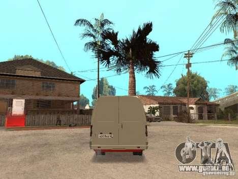Gazelle 2705 pour GTA San Andreas vue intérieure