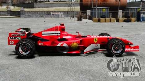 Ferrari F2005 pour GTA 4 est une gauche