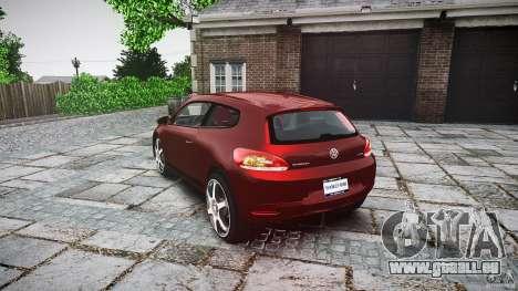 Volkswagen Scirocco 2.0 TSI pour GTA 4 Vue arrière de la gauche