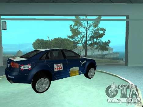 Audi RS4 pour GTA San Andreas vue de côté