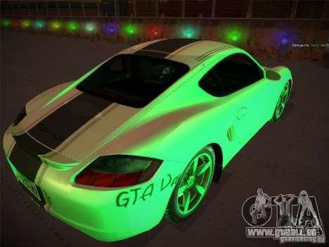 Porsche Cayman S Snow pour GTA San Andreas laissé vue