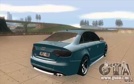 Audi S4 2009 pour GTA San Andreas vue de côté