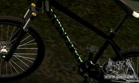 Fahrrad mit Monster-Energie für GTA San Andreas Rückansicht