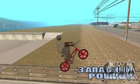 New BMX für GTA San Andreas rechten Ansicht