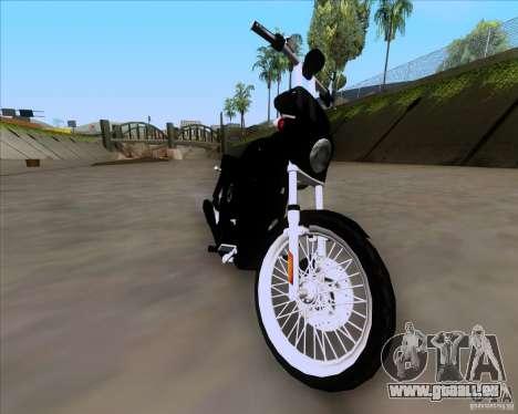Harley Davidson FXD Super Glide für GTA San Andreas zurück linke Ansicht
