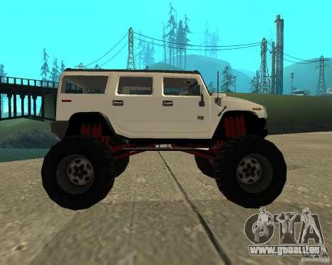 Hummer H2 MONSTER pour GTA San Andreas laissé vue