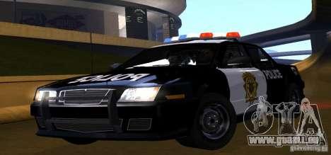 NFS Undercover Police Car pour GTA San Andreas sur la vue arrière gauche