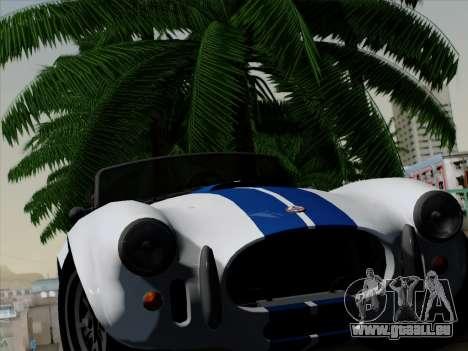 Shelby Cobra 427 pour GTA San Andreas vue intérieure
